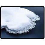 Ice, Snow And Moving Water Fleece Blanket (Large)  80 x60 Blanket Front