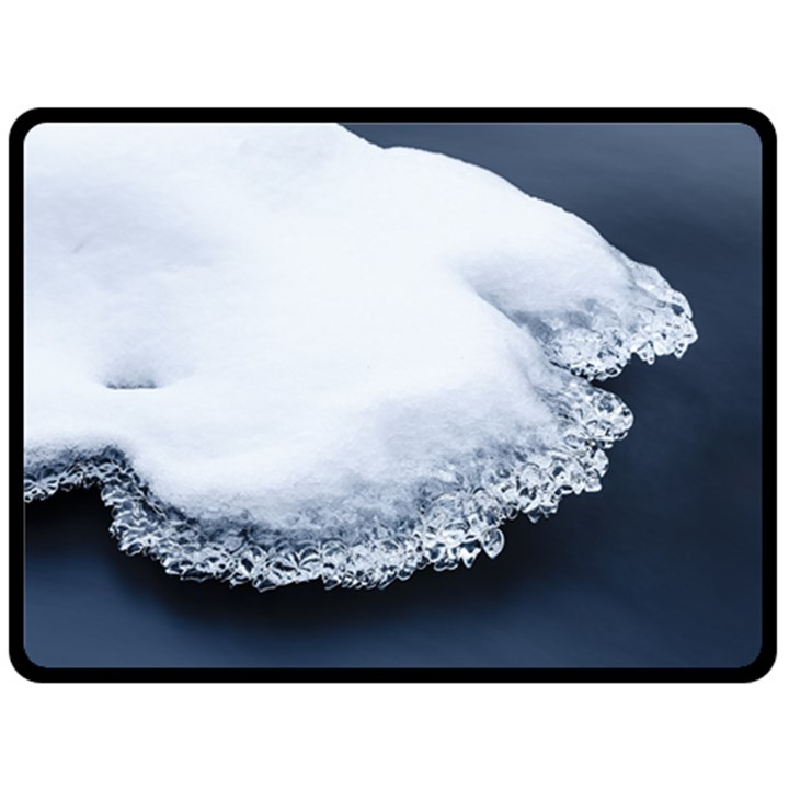 Ice, Snow And Moving Water Fleece Blanket (Large)