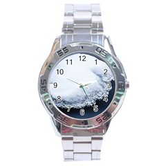 Ice, Snow And Moving Water Stainless Steel Analogue Watch by Ucco
