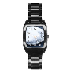 Ice, Snow And Moving Water Stainless Steel Barrel Watch by Ucco
