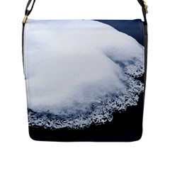 Ice, Snow And Moving Water Flap Messenger Bag (l)  by Ucco
