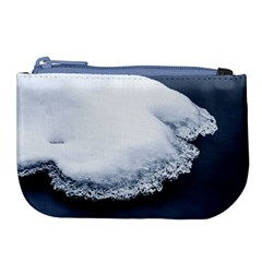 Ice, Snow And Moving Water Large Coin Purse by Ucco