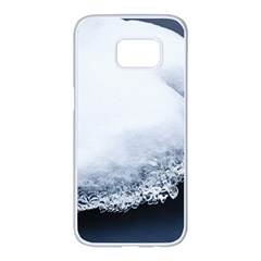 Ice, Snow And Moving Water Samsung Galaxy S7 Edge White Seamless Case by Ucco