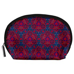 Bereket Red Blue Accessory Pouches (large)  by Cveti