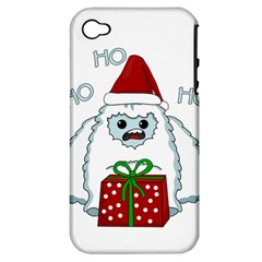 Yeti Xmas Apple Iphone 4/4s Hardshell Case (pc+silicone)
