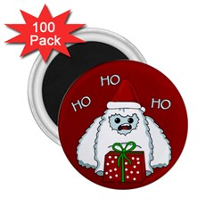 Yeti Xmas 2 25  Magnets (100 Pack)  by Valentinaart