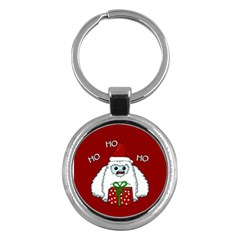 Yeti Xmas Key Chains (round)  by Valentinaart