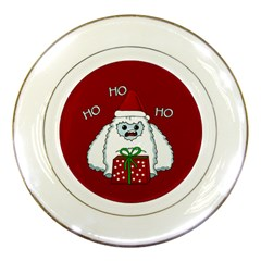 Yeti Xmas Porcelain Plates by Valentinaart