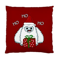 Yeti Xmas Standard Cushion Case (two Sides) by Valentinaart