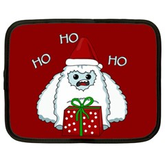Yeti Xmas Netbook Case (xl)  by Valentinaart