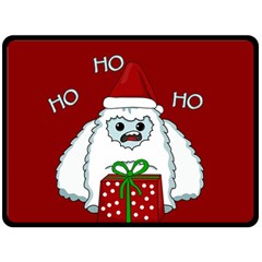 Yeti Xmas Fleece Blanket (large)  by Valentinaart