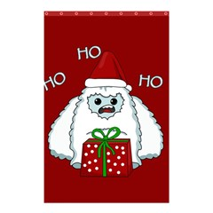 Yeti Xmas Shower Curtain 48  X 72  (small)  by Valentinaart