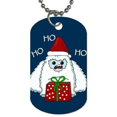 Yeti Xmas Dog Tag (one Side) by Valentinaart