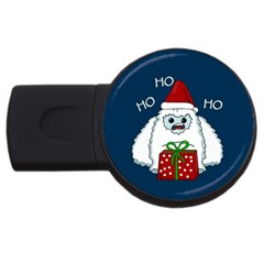 Yeti Xmas Usb Flash Drive Round (4 Gb) by Valentinaart