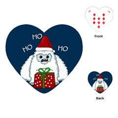Yeti Xmas Playing Cards (heart)  by Valentinaart