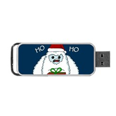 Yeti Xmas Portable Usb Flash (one Side) by Valentinaart