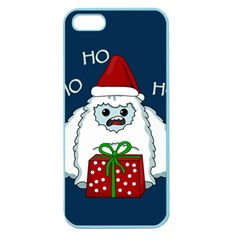 Yeti Xmas Apple Seamless Iphone 5 Case (color) by Valentinaart