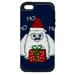 Yeti Xmas Apple Iphone 5 Hardshell Case (pc+silicone)