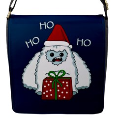 Yeti Xmas Flap Messenger Bag (s) by Valentinaart