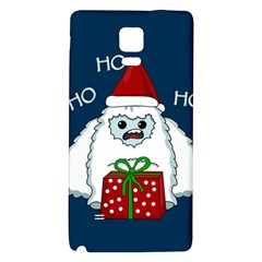 Yeti Xmas Galaxy Note 4 Back Case by Valentinaart
