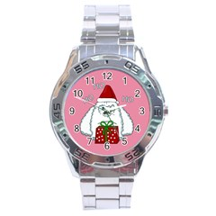 Yeti Xmas Stainless Steel Analogue Watch by Valentinaart