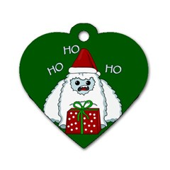 Yeti Xmas Dog Tag Heart (two Sides) by Valentinaart