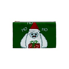 Yeti Xmas Cosmetic Bag (small)  by Valentinaart