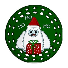 Yeti Xmas Ornament (round Filigree)