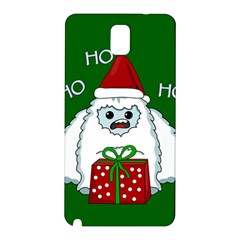 Yeti Xmas Samsung Galaxy Note 3 N9005 Hardshell Back Case by Valentinaart