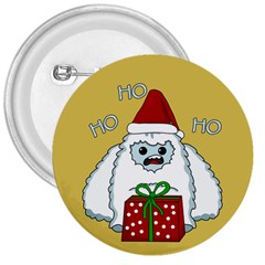 Yeti Xmas 3  Buttons by Valentinaart