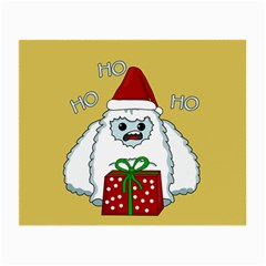 Yeti Xmas Small Glasses Cloth by Valentinaart