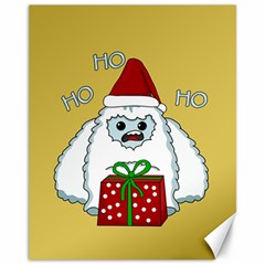 Yeti Xmas Canvas 11  X 14   by Valentinaart
