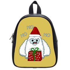 Yeti Xmas School Bag (small) by Valentinaart