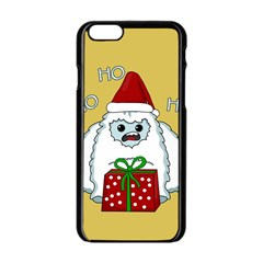 Yeti Xmas Apple Iphone 6/6s Black Enamel Case by Valentinaart