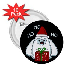 Yeti Xmas 2 25  Buttons (10 Pack)  by Valentinaart