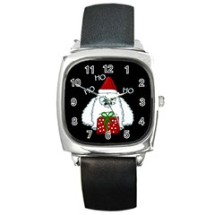 Yeti Xmas Square Metal Watch by Valentinaart