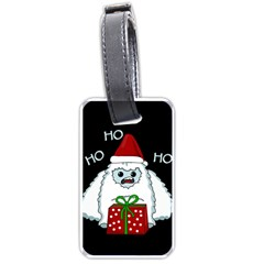 Yeti Xmas Luggage Tags (two Sides) by Valentinaart
