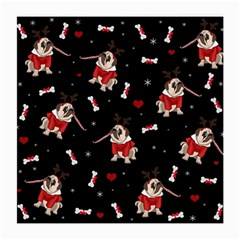 Pug Xmas Pattern Medium Glasses Cloth