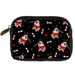 Pug Xmas Pattern Digital Camera Cases