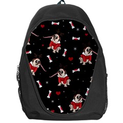 Pug Xmas Pattern Backpack Bag by Valentinaart