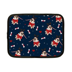 Pug Xmas Pattern Netbook Case (small)  by Valentinaart