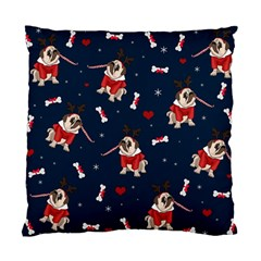 Pug Xmas Pattern Standard Cushion Case (two Sides) by Valentinaart