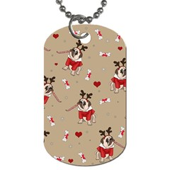 Pug Xmas Pattern Dog Tag (one Side) by Valentinaart