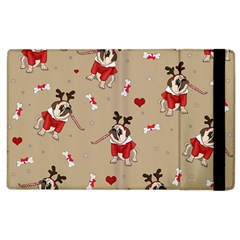 Pug Xmas Pattern Apple Ipad 3/4 Flip Case by Valentinaart