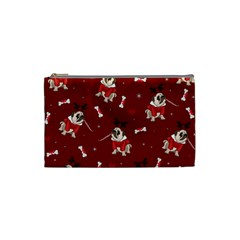 Pug Xmas Pattern Cosmetic Bag (small)  by Valentinaart