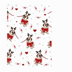 Pug Xmas Pattern Large Garden Flag (two Sides) by Valentinaart