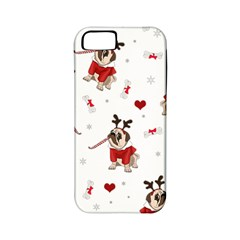 Pug Xmas Pattern Apple Iphone 5 Classic Hardshell Case (pc+silicone) by Valentinaart