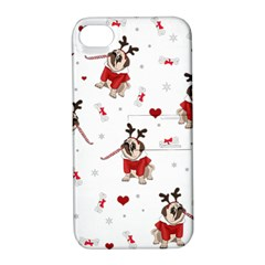 Pug Xmas Pattern Apple Iphone 4/4s Hardshell Case With Stand