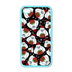 Yeti Xmas Pattern Apple Iphone 4 Case (color) by Valentinaart