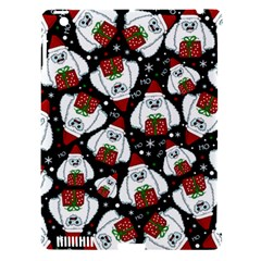 Yeti Xmas Pattern Apple Ipad 3/4 Hardshell Case (compatible With Smart Cover)